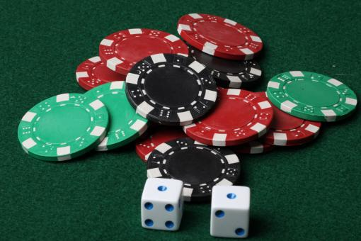 Free Stock Photo of Poker chips and Dice