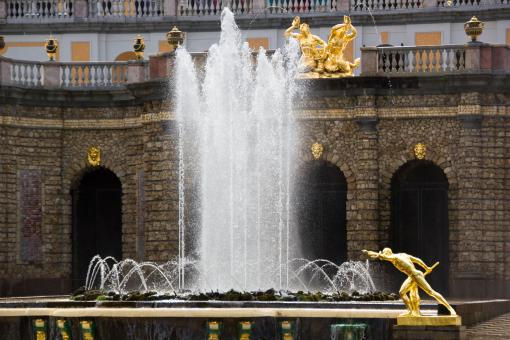 Free Stock Photo of Pertergof Fountains