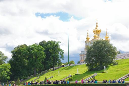 Free Stock Photo of Church in Peterhof