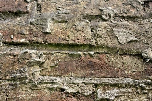 Free Stock Photo of Old dirty brick wall