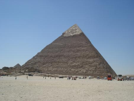 Free Stock Photo of One of 3 Pyramids in Giza