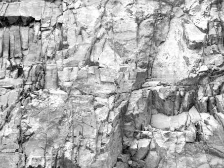 Free Stock Photo of Jagged Rockface