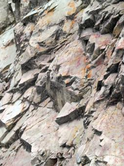 Free Stock Photo of Jagged Rockface Background