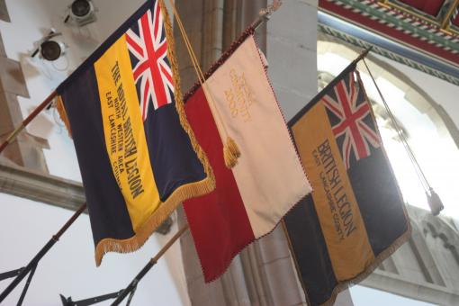 Free Stock Photo of Flags in the North Transept
