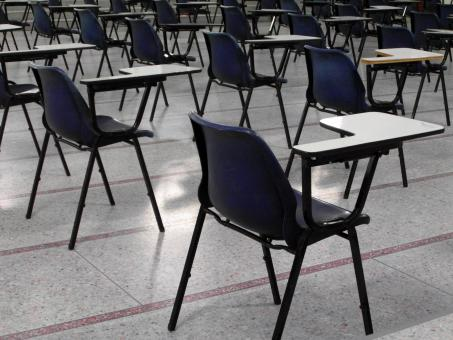 Free Stock Photo of Empty Exam Hall and Seats
