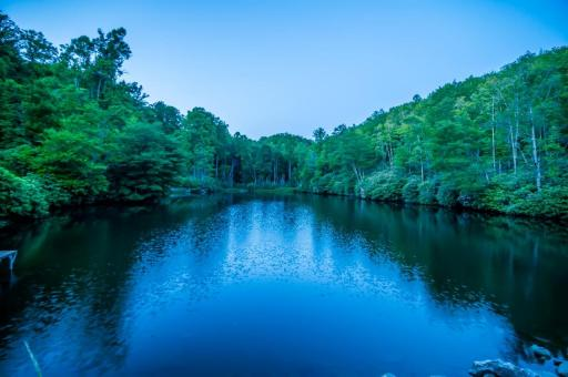 Free Stock Photo of Blue River Reflections