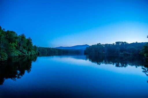 Free Stock Photo of Blue Landscape Reflections