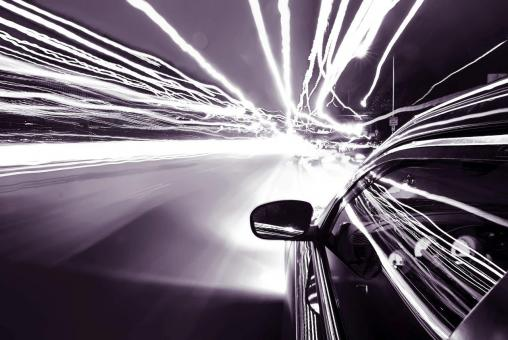 Free Stock Photo of Speed of Light - Monochrome