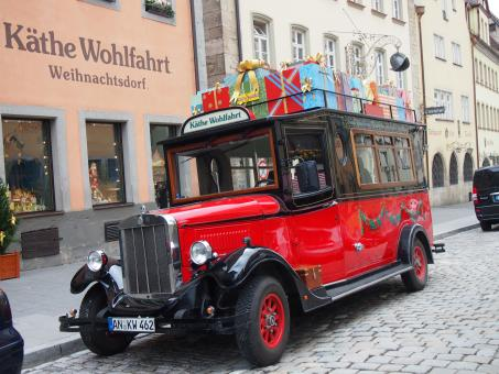 Free Stock Photo of Rothenburg Vintage Bus