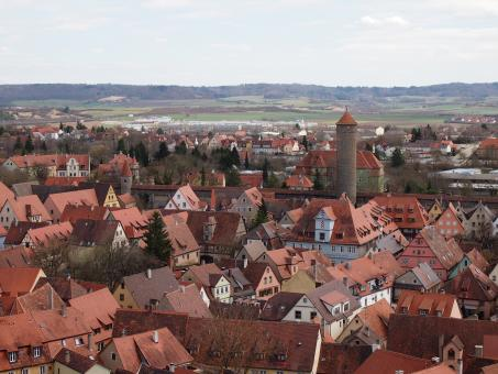 Free Stock Photo of Rothenburg Cityscape
