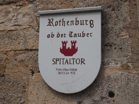Free Stock Photo of Rothenburg Sign