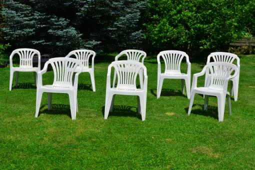Free Stock Photo of White chairs