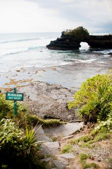 Free Stock Photo of Tanah Lot Temple on Sea in Bali Island