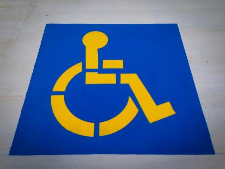 Free Stock Photo of Disabled parking sign