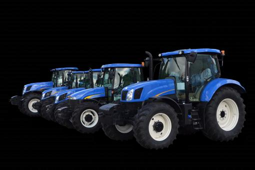 Free Stock Photo of New tractors isolated