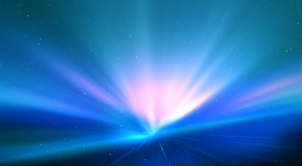 Free Stock Photo of Blue Aurora Burst Background
