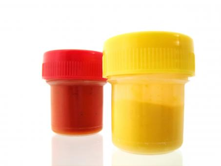 Free Stock Photo of Red & yellow gouache