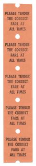 Free Stock Photo of Vintage Fare Ticket x5