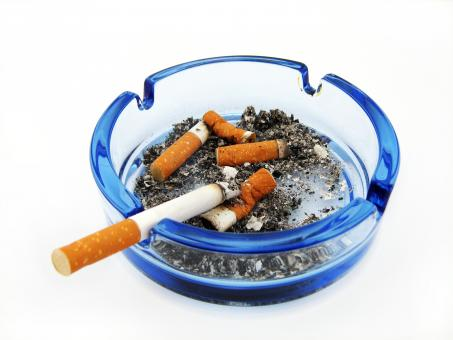Free Stock Photo of ashtray with cigarette