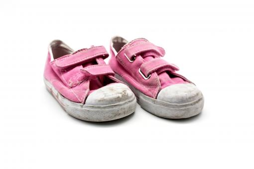 Free Stock Photo of Old pink sneakers