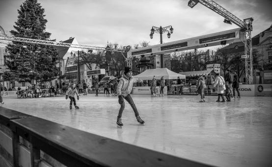 Free Stock Photo of Boys Ice Skating