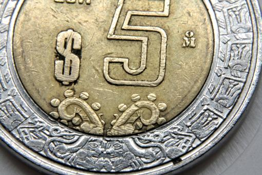 Free Stock Photo of Mexican coin