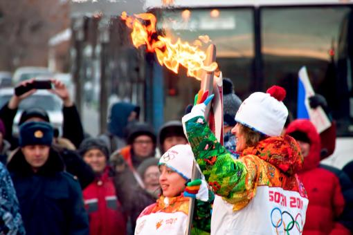 Free Stock Photo of Olympic flame