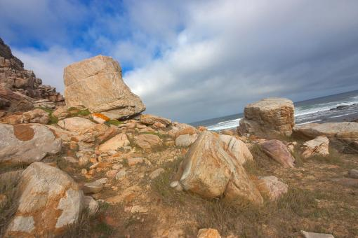 Free Stock Photo of Cape Cliff Stones - HDR