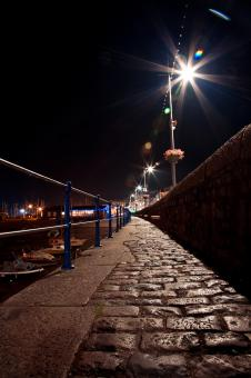 Free Stock Photo of Guernsey Night Path