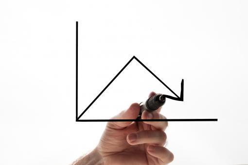 Free Stock Photo of Graph and hand