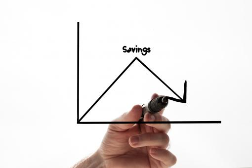 Free Stock Photo of Savings graph