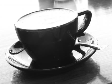 Free Stock Photo of Black Coffee Cup b&w image