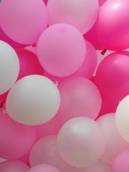 Free Stock Photo of Pink Balloons