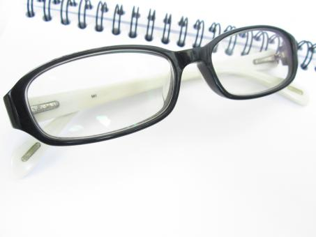 Free Stock Photo of Eye Glasses with Book