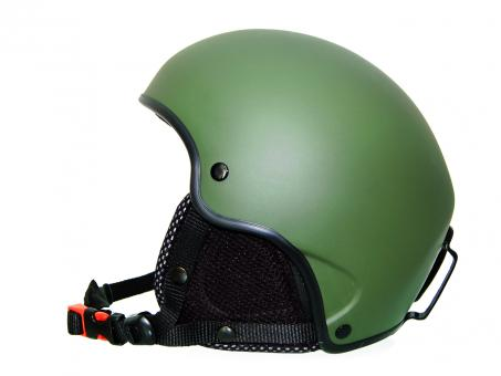 Free Stock Photo of Green ski helmet
