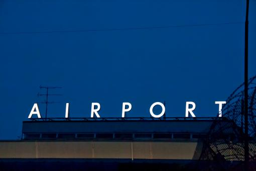 Free Stock Photo of Airport at night