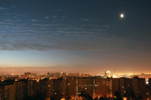 Free Stock Photo of Night over Saint Petersburg