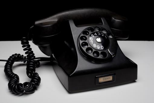 Free Stock Photo of Old Black Phone