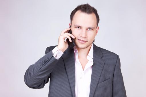 Free Stock Photo of Businessman with phone