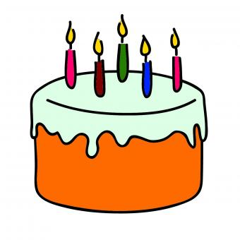 Free Stock Photo of Birthday Cake Clipart