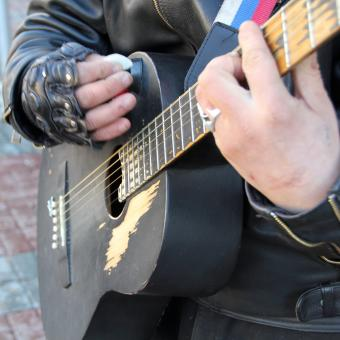 Free Stock Photo of Playing Guitar