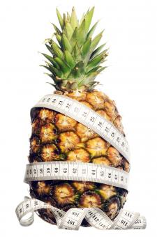 Free Stock Photo of Measuring tape on Pineapple