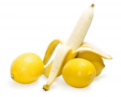 Free Stock Photo of Banana and lemons