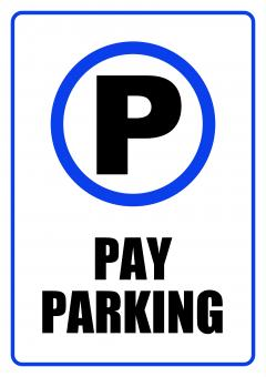Free Stock Photo of Pay Parking Zone - Sign