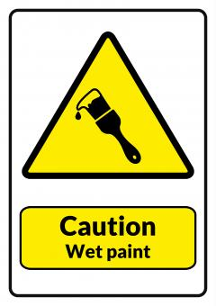 Free Stock Photo of Caution Wet Paint Printable