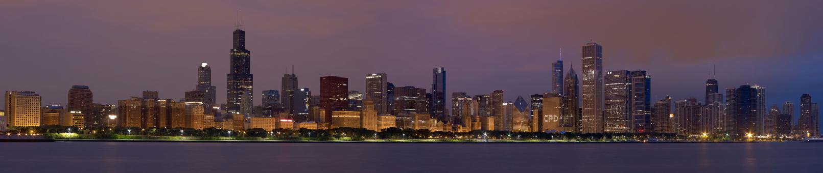 Free Stock Photo of Chicago Panorama 2012