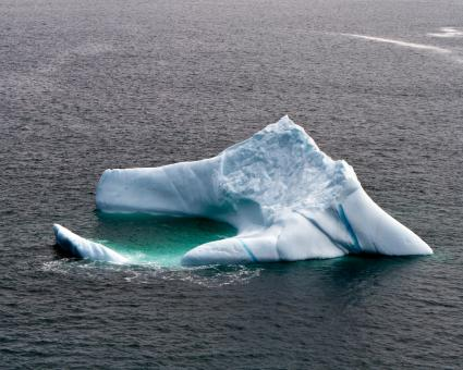 Free Stock Photo of Large Iceberg from Air