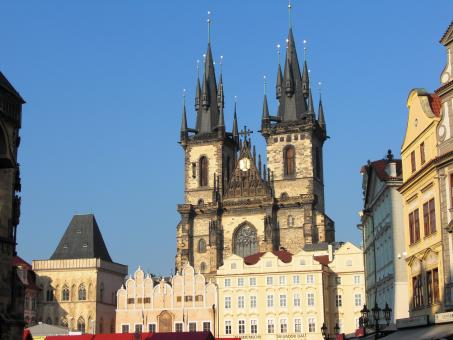 Free Stock Photo of Church of our Lady before Týn in Prague