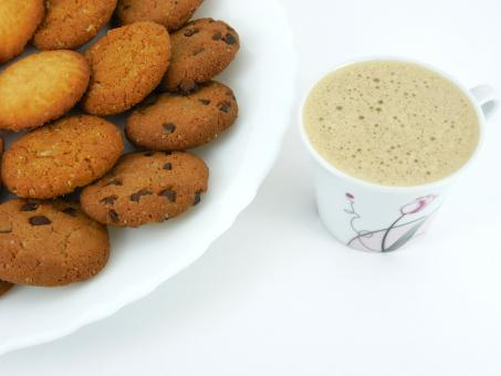 Free Stock Photo of Coffee and Cookies