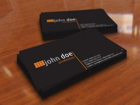 Free Stock Photo of Simple Black Personal Business Card